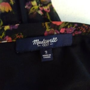Madewell Skirts - Madewell Black Floral Pleated Skirt Size 2 A11